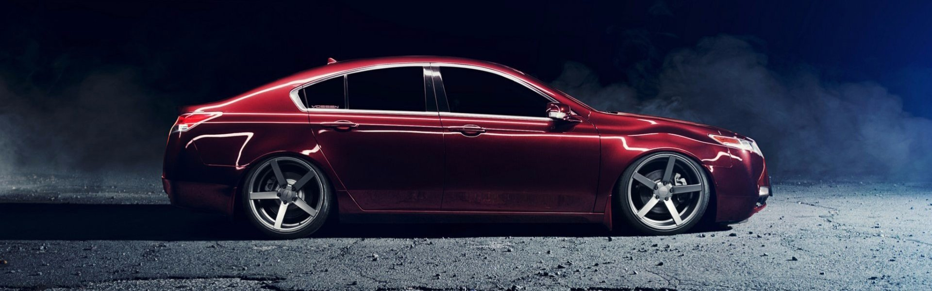 Honda Acura TL red stance-тюнинг