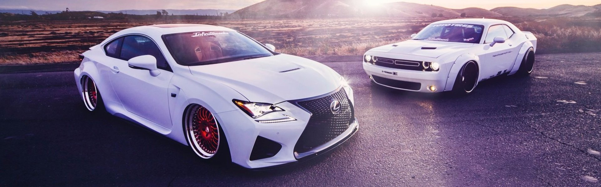 Lexus RC350 & DODGE Challenger Liberty Walk stance-тюнинг